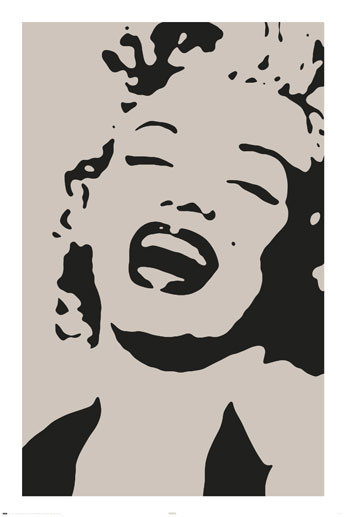 Poster MARILYN MONROE - by avela