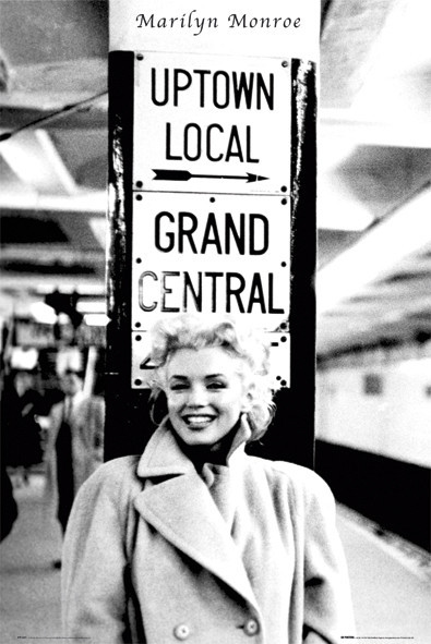 Poster Marilyn Monroe - grand central