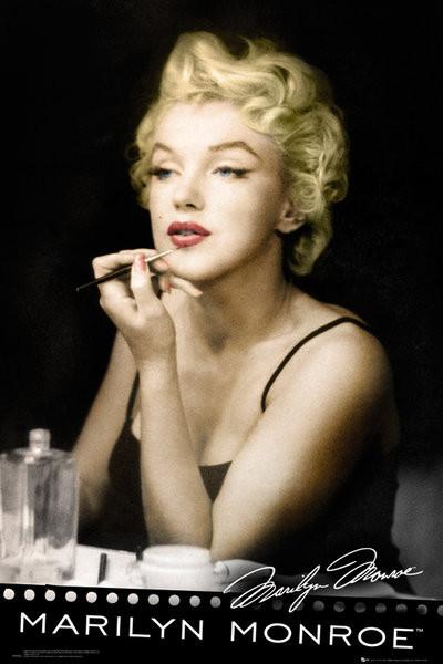 Poster MARILYN MONROE - lipstick