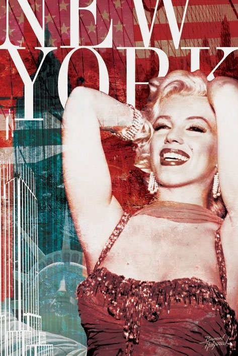 Poster MARILYN MONROE - NY bernard of hollywood