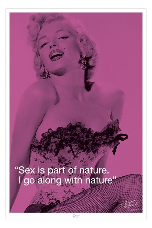 Poster MARILYN MONROE - sex qupote