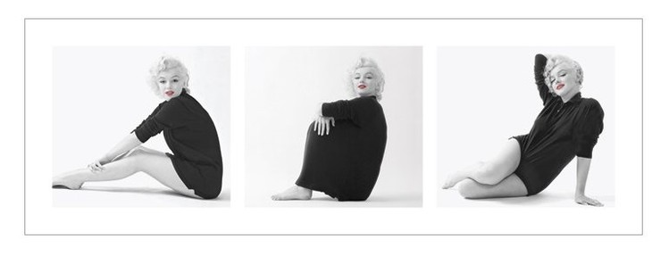 Marilyn Monroe - Sweater Triptych Kunstdruck