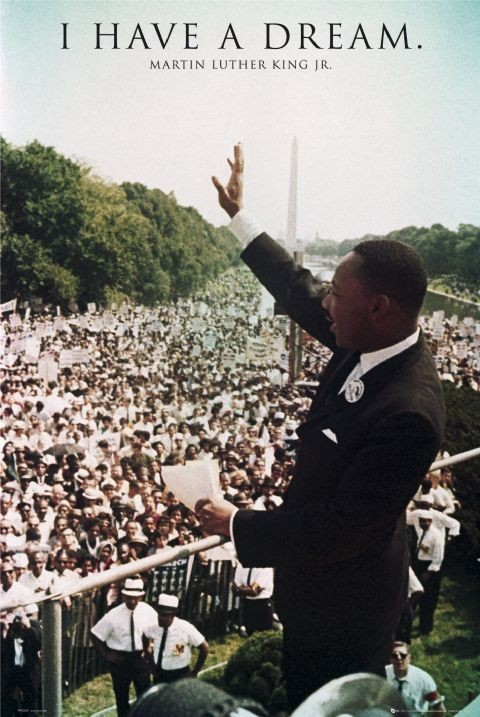 Poster Martin Luther King Jr. - I have a dream