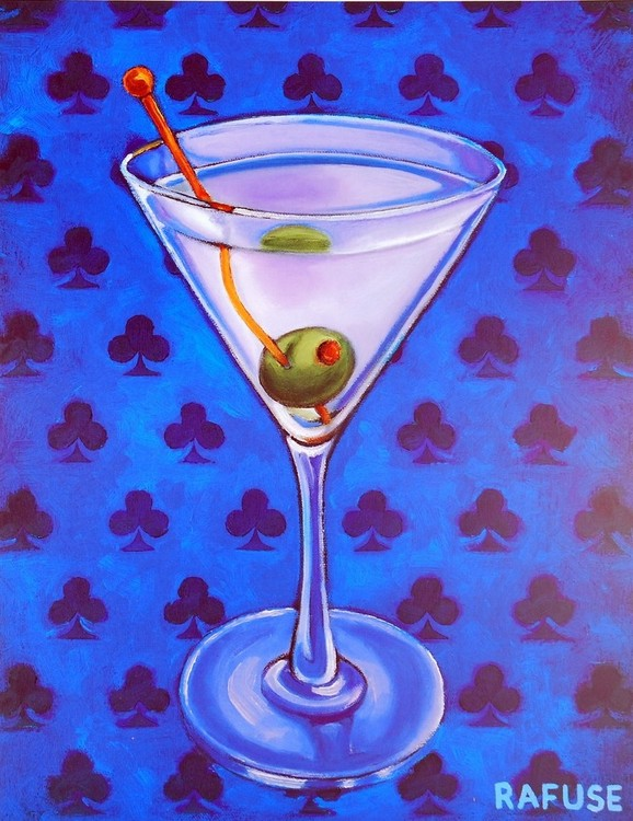Martini Royale - Clubs Kunstdruck