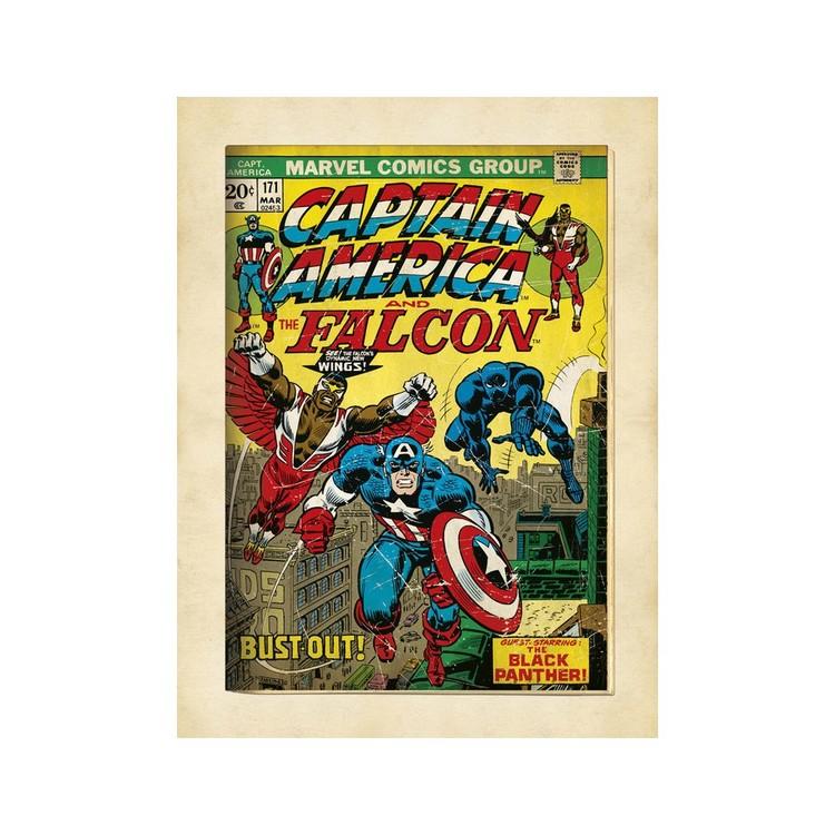Konsttryck  Marvel Comics - Captain America