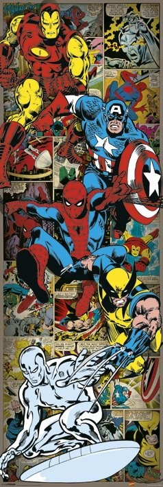 Poster MARVEL COMICS - heroes