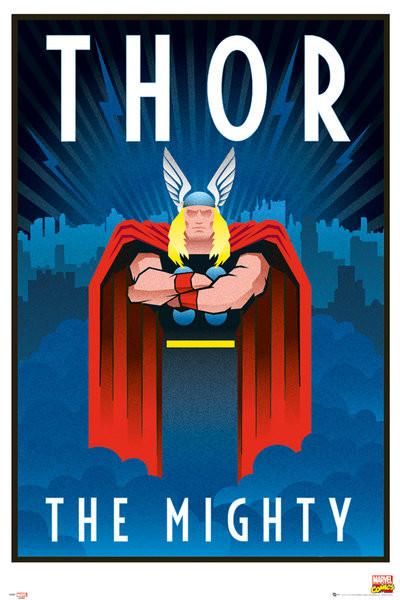 Poster Marvel - Retro Thor
