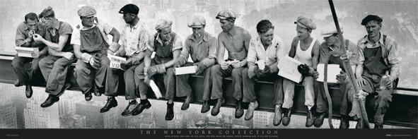 Poster Men on girder - New York
