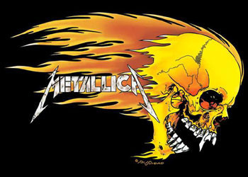Poster Metallica - flaming