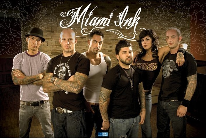 Poster MIAMI INK - floral