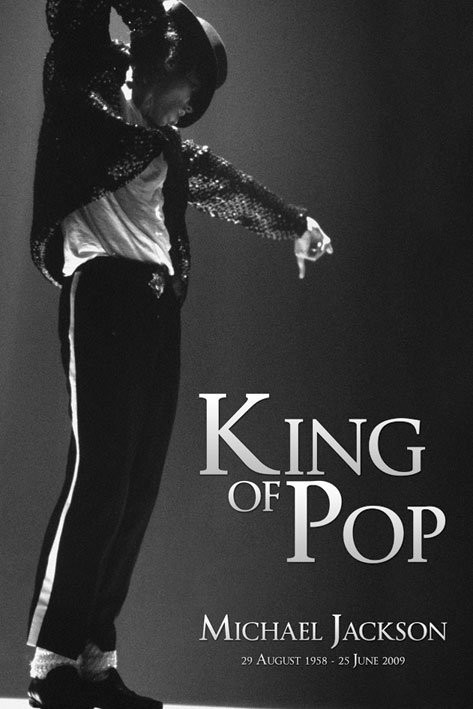 Poster Michael Jackson - king b & w