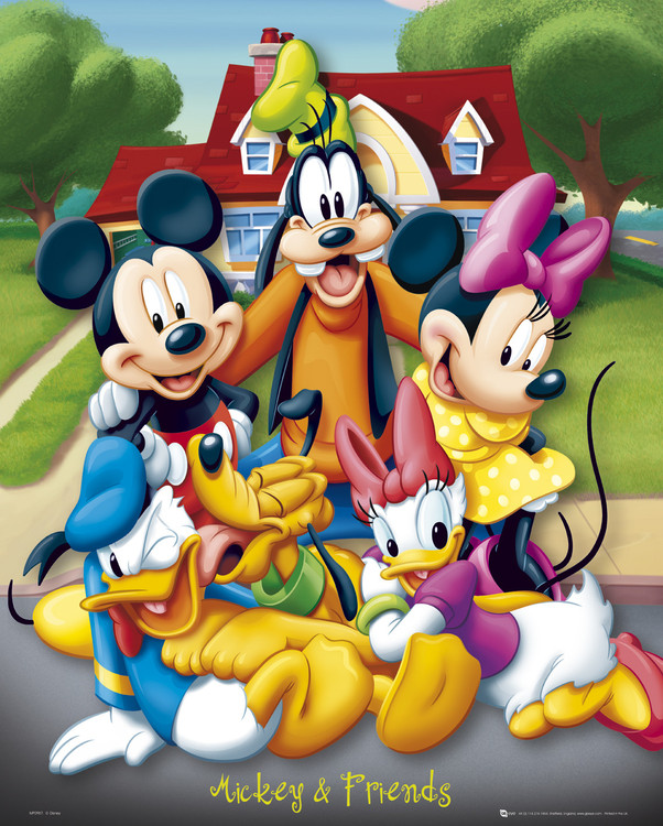Poster MICKEY MOUSE - and friends