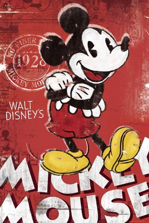 Poster MICKEY MOUSE - red