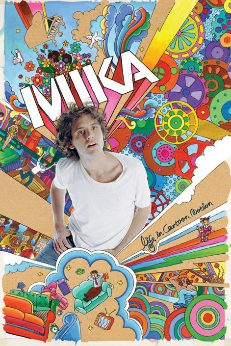 Poster Mika - life in cartoon motion