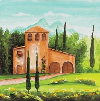 Monastery Kunstdruck