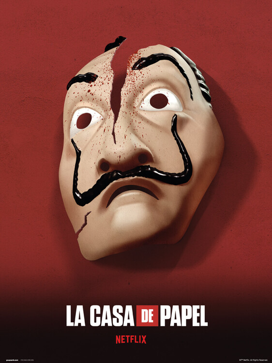 Konsttryck Money Heist (La Casa De Papel) - Mask