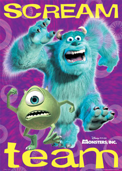 MONSTERS INC Scream Team Poster