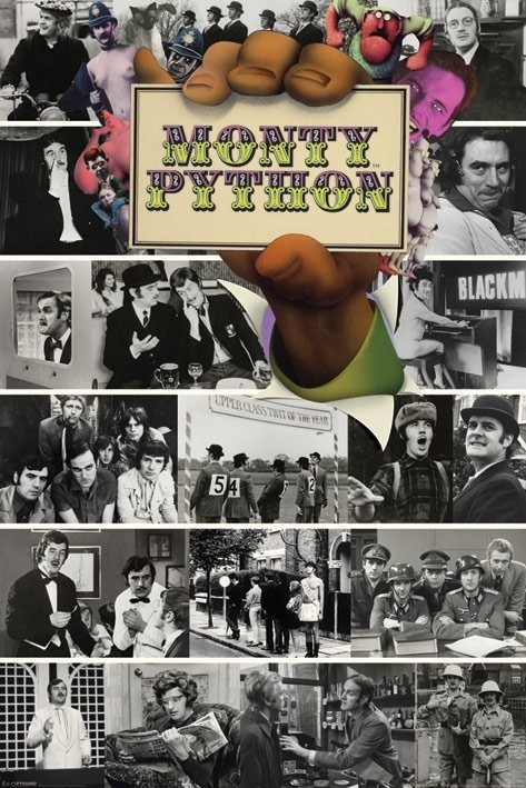 Poster Monty Python - flying circus montage