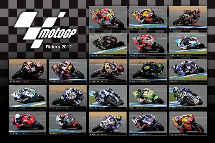 Poster MOTO GP - 2012 riders