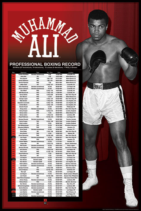 Poster Muhammad Ali - professional boxing