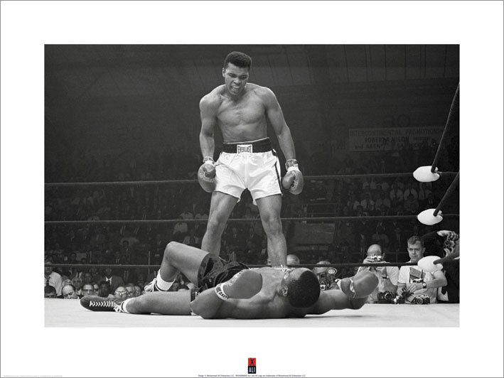 Muhammad Ali vs Liston  Kunstdruck