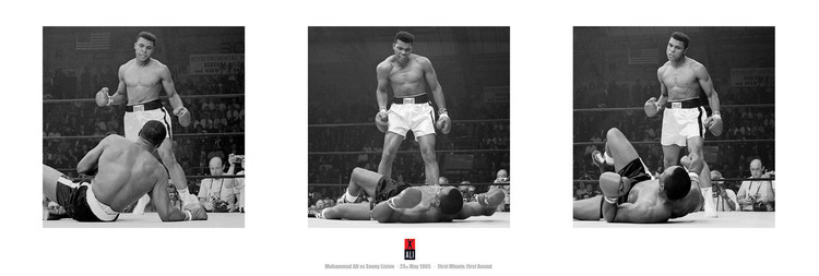 Poster Muhammad Ali vs. Sonny Liston - triptych