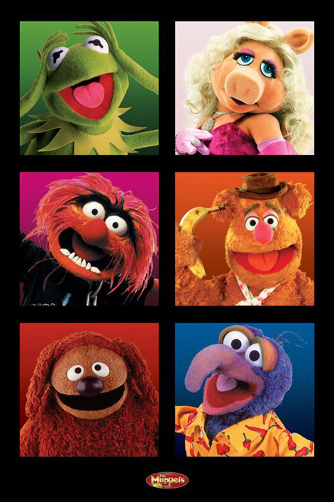 Poster MUPPETS - character boxes