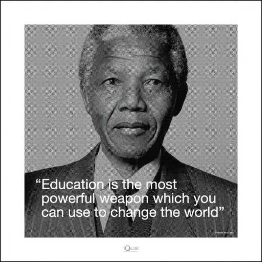Nelson Mandela - Quote Kunstdruck