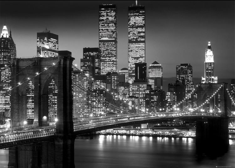 Poster New York - brooklyn night