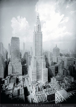 Poster New York - Chrysler building
