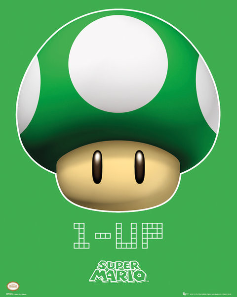 Poster Nintendo - 1 UP
