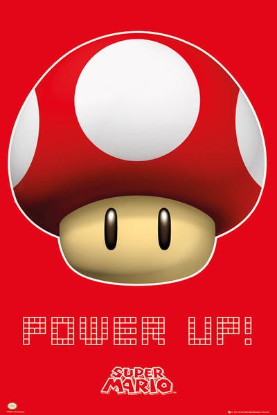 Poster Nintendo - power up