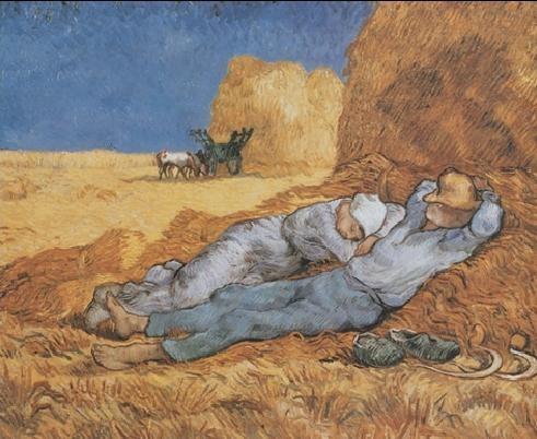 Noon: Rest from Work, 1890 Kunstdruck
