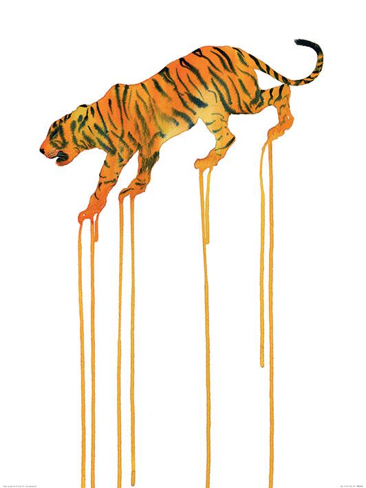Oliver Fores - Tiger Kunstdruck