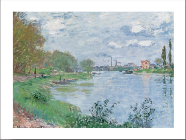 On the Bank of the Seine Kunstdruck