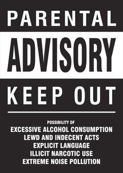 Poster Parental advisory - keep out