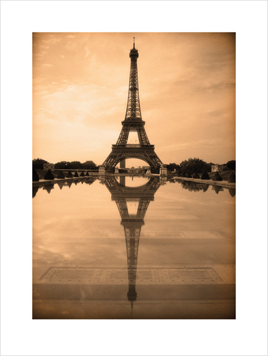 Parisien Reflection  Kunstdruck
