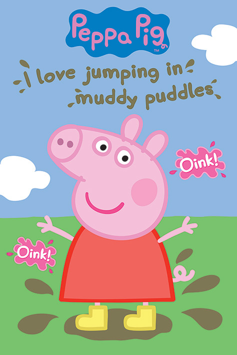 Poster Peppa Wutz - Muddy Puddle