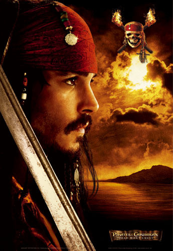 Poster Pirates of Caribbean - Depp profile