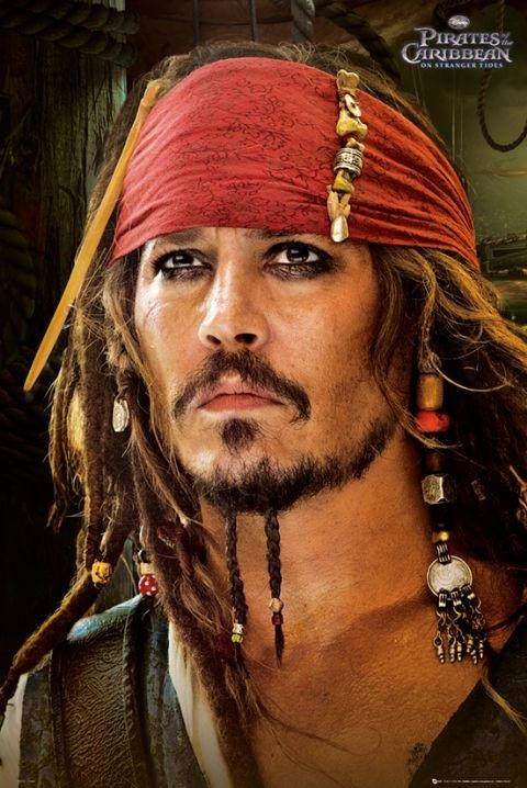 Poster PIRATES OF THE CARIBBEAN 4 - red bandana