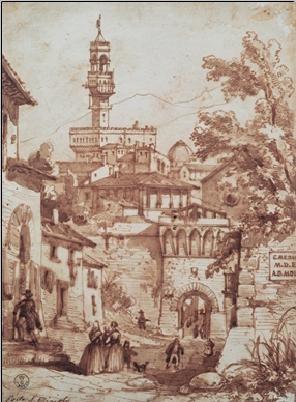 Konsttryck Porta San Miniato