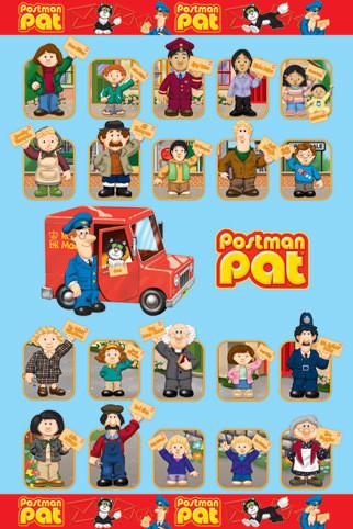 Poster POŠTÁR PAT - postavy