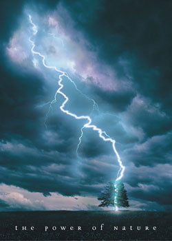 Poster Power of nature - lightning