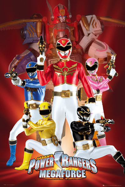 Poster POWER RANGERS - megaforce