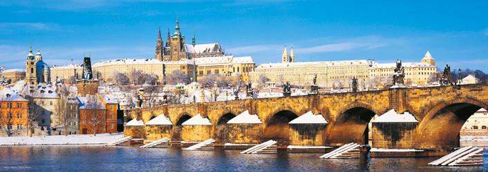 Poster Prague – Prague castle / winter