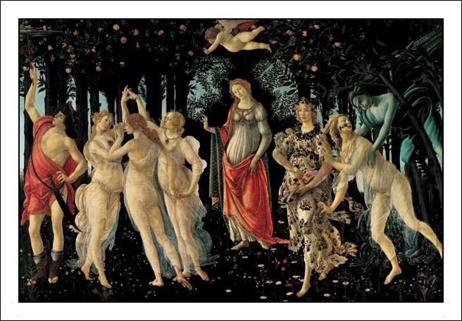 Primavera - The Allegory of Spring Kunstdruck