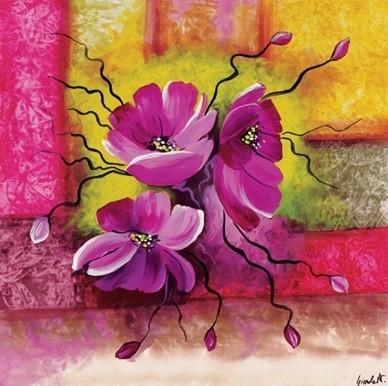 Purple Dahlias Kunstdruck