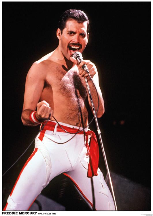 Poster  Queen (Freddie Mercury) - Los Angeles 1982