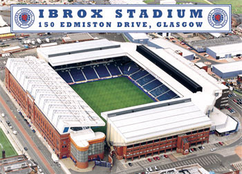 Poster Rangers - ibrox stadium