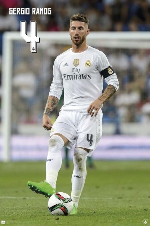 Poster Real Madrid 2015/2016 - Sergio Ramos accion